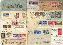 *y Regno - Oltre 260 Lett./cart. Con Varietà Di Affr. Di Vitt. Em. III Con Molti Commemorativi. Bell'insieme. Qualità Mi - Stamps