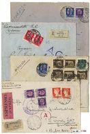 * R.S.I. - 105 Buste Con Ottime Presenze Di Soprastampati. In Un Raccoglitore. - Stamps