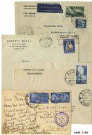 * Repubblica - Insieme Di Storia Postale - 72 Buste In Un Raccoglitore. Interessanti Destinazioni. - Stamps