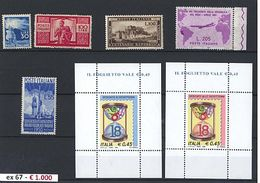 «« Repubblica - Collezione Avanzata Di PO Dal 1945 Al 1996 Montata Su 4 Album Marini/Accademia. Notato Gronchi Rosa E De - Stamps