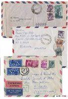* Repubblica - Michelangiolesca - Una Scatola Con Oltre 380 Lett./cart./doc. Con Grande Varietà Di Affr., Combinazioni A - Stamps