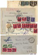 * Trieste AMG-VG - 24 Lett./cart. Variamente Affr. Tra Cui Alcune Per L'estero (USA, Belgio, Svezia, Jugoslavia). - Stamps