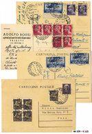 *+ Trieste AMG-VG - 13 Lett./IP Con Varie Affr. Tra Cui Due Cartoline Mazzini Ricoperte Ed Una Racc. Espresso. - Stamps