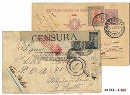 * Colonie, Occupazioni, PM - Oltre 100 Lett./cart./franchigie Con Varie Affr. Ed Ann. - Qualità Mista, Da Esaminare. - Stamps