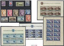 «« San Marino - Collezione Avanzata Dal N° 2 Fino Al 2012 Di PO + PA Compresa La Non Emessa + Foglietti E Minifogli Comp - Stamps