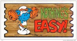 PEYO - SCHTROUMF - Année 1982 - Petite Carte (22) - Nothing's Easy ! - Halthérophilie - Smurf Super Cards Number 22 - Illustrators & Photographers