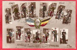 CPA  Armée Belge Et Armée Française Costumes Des Différents Régiments En 1914 Mug 421 - Guerre 1914-18