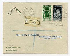 * Augusto 2,55 L. + 25 C. (419+425) Su Racc. Da Genova 25.9.37 Ad Albertville (Katanga/Congo Belga). In Eccesso Di 5 Cen - Stamps