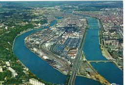 Lyon La Mulatière Belle Vue Aérienne De La Ville Confluent Lyon-Vienne-Valence Le Pont Pasteur - Otros