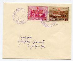 * Montenegro - Croce Rossa PO 0,15 + 1,35 M. + PA 0,25 + 1,75 M. (22+A.9) Su Busta Da Podgoritza (ann. Viola). Cert. Chi - Unclassified