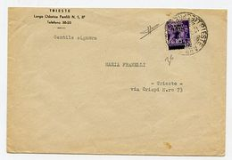 * Trieste Occ. Jugoslava (4) Su Busta Da Trieste Per Città. Sor. - Stamps