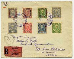 * Montenegro - Racc. Da Cettigne 4.1.1903 A S. Marino Con Montenegro 8 Valori Sopr. E Non Sopr. - Unclassified