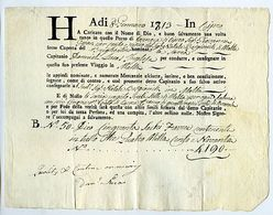& 2 Polizze Di Carico Da Cipro A Venezia E Viceversa (1779/1813). - Stamps