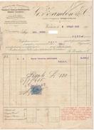 Zambon Vicenza Fattura Benzina Americana In Casse 1915 - Italia