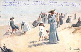 CPA Fantaisie - Scène De Plage - Enfants - Illustration Tuck 1907 - Children And Family Groups