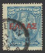 Crete, 25 L. 1910, Scott # 116, Mi # 60, Used. - Crete