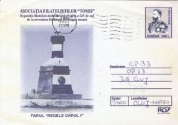 ARCHITECTURE, KING CHARLES I LIGHTHOUSE, COVER STATIONERY, ENTIER POSTAL, 2003, ROMANIA - Phares
