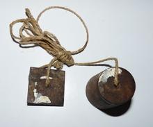 Outil Ancien - Fil à Plomb (en Acier) - Maçon, Charpentier - Tools