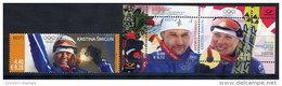 ESTONIA 2006 Winter Olympic Medal Winner Stamp + Block  MNH / **.  Michel 548 + Block 26 - Estonia