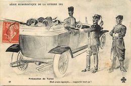 Guerre 1914-18 -ref L800- Illustrateurs - Illustrateur -humour -serie Humoristique - Precaution De Turcos -automobile  - - War 1914-18