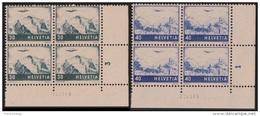 SVIZZERA 1948 Airmail Definitives Mi.506/7 - Yv.A42/3 Serie Cpl. 2v. Nuovi** In Belle Quartine - Poste Aérienne