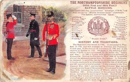 The Northamptonshire Regiment - Battle Honours - Patriotic Card - Illustration - Northamptonshire