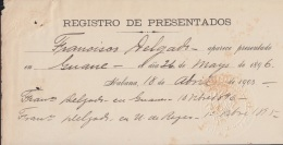 "BE637 CUBA SPAIN ESPAÑA INDEPENDENCE WAR 1903 ""REGISTRO DE PRESENTADOS"".DESETORES EJERCITO MAMBI - Autographs"