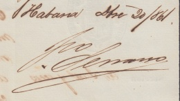 BE645 CUBA SPAIN ESPAÑA 1861 AUTOGRAPH CAPTAIN GENERAL FRANCISCO SERRANO DOC - Autographs