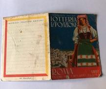 Calendarietto Barbiere Lotteria Esposizione Roma 1941 - Calendari