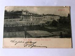 Cartolina Colle Aperto Bergamo Palazzo Conti Roncalli 1907 Viaggiata - Bergamo