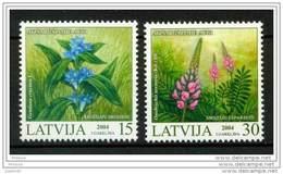 LATVIA 2004 Protected Flowers Set Of 2 MNH / **.  Michel 608-09 - Latvia