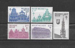 België 1965 Y&T Nr° 1354/58 (**) - Unused Stamps