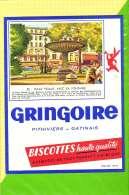 Buvard & Blotting Paper : BISCOTTE GRINGOIRE Haute Qualité 82 Place Pigalle Avec La Fontaine - Zwieback