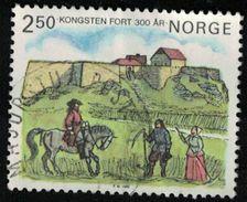 Norvège 1985 Oblitéré Rond Used Scène Champêtre Devant Le Fort De Kongsten SU - Norvège