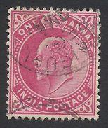 India, 1 A. 1902, Sc # 62, Used. - India (...-1947)