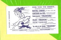 Buvard & Blotting Paper : Pour Les Desserts Flan Sucre  GAILLOT MALO LES BAINS - Cake & Candy