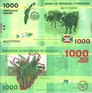 BURUNDI - 1000 FRANCS 2015 - Pick 51 UNC - Burundi