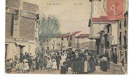 34 PAULHAN LA PLACE CORTEGE DE MARIAGE 1905 CPA 2 SCANS - Paulhan