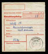 A5027) DDR Bezahlformular Postfach 1976 9x 2M Sehr Selten !! - DDR