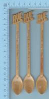 """Melangeur A Boisson, Touilleur, 3 Fois """" Motel Caron, St-Ludger Quebec """" Type:  Boisson Rye - Swizzle Sticks"""