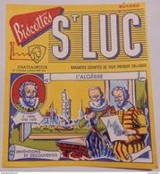 Ancien Buvard Biscottes LUC Châteauroux L'algebre - Zwieback