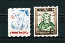 Cuba  Nº Yvert  A-128/9  En Nuevo - Poste Aérienne
