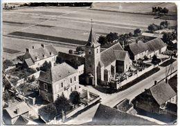 EN AVION AU DESSUS DE... 2 BINGES - La Mairie Et L'Eglise - Other Municipalities