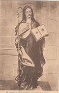 Cp , ARTS , Couvent Su MONT-Ste-ODILE , La Statue De La Sainte - Sculptures