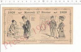 2 Scans Humour 1909 Siège De Paris Guerre 1870 Boucherie Chevaline Boucher Tour De Pise Tremblement Terre Truffes 216F13 - Zonder Classificatie