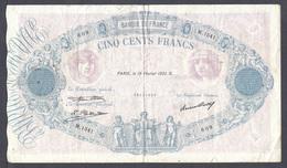 500 Fr Bleu Et Rose Du 19 Février 1931 Fayette F 30 - 34 - 1871-1952 Anciens Francs Circulés Au XXème
