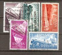 España/Spain-(usado) - Edifil  1233-37 - Yvert  922-26 (o) - 1951-60 Gebraucht