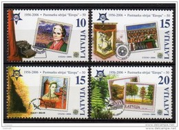 LATVIA 2006  50 Years Of Europa Stamps Set Of 4 MNH / **.  Michel 652-55 - Latvia