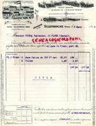 69- CLEIZE PRES VILLEFRANCHE- RARE FACTURE LES GRANDS MOULINS SEIGLE- MINOTERIE MEUNIER- 1916 - Old Professions