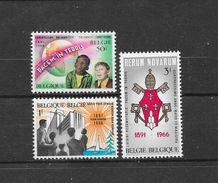 België 1966 Y&T Nr° 1360/62 (**) - Unused Stamps